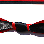 Andrea: red and black multi-layered, Spanish inspired with double knot, printed in thermography
