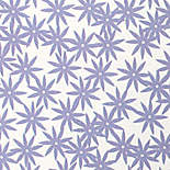 Emily: starburst flowers in lavender and chocolate digitally printed