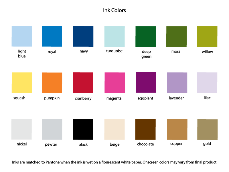 PostScript Brooklyn Color Swatches