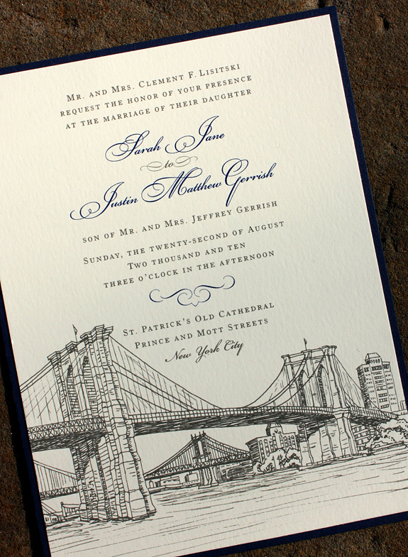 Sarah and Justin: Seaport custom invite