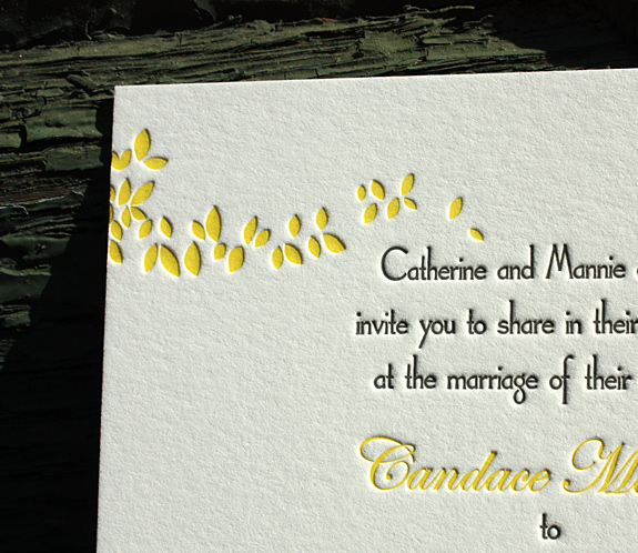 Candace and Conor: Gramercy Park, invitation detail