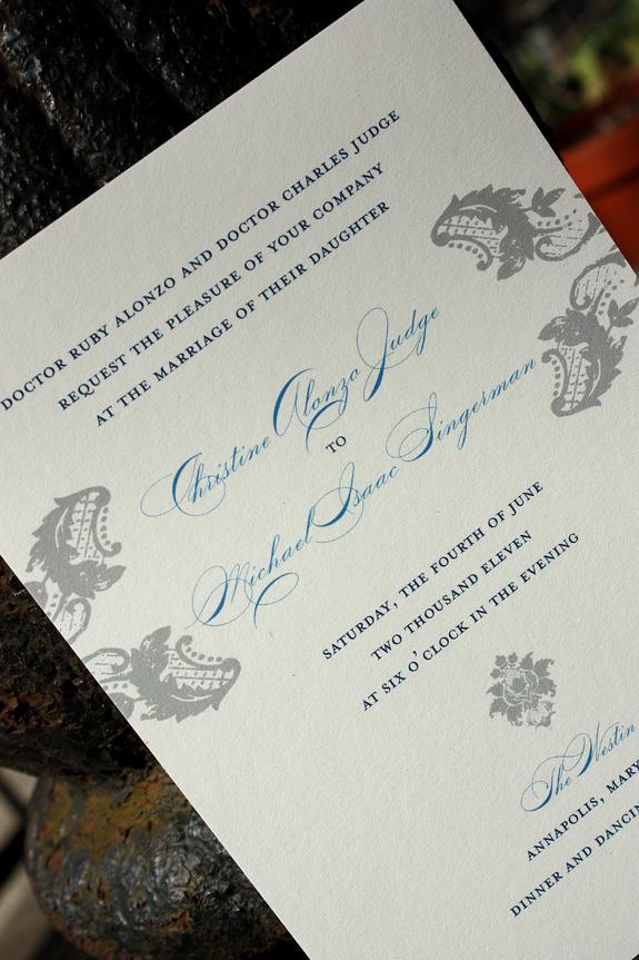 Christine and Michael: Clinton Hill, invite