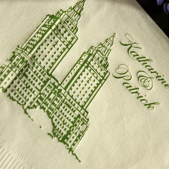 Katherine and Patrick: San Remo napkin {custom}
