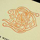 Deepa and Saurav: foil stamped and letterpressed, supplied custom monogram, gate fold
