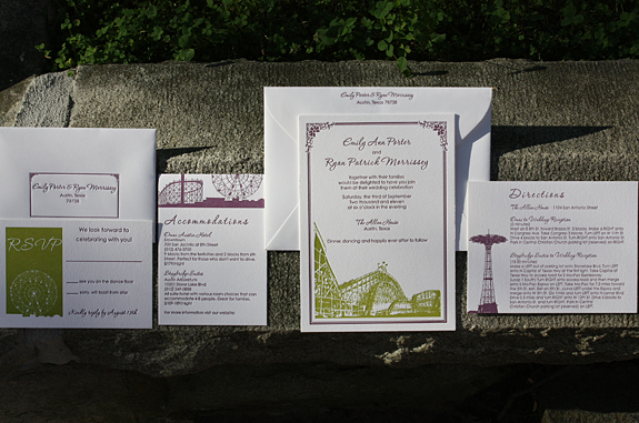 Emily and Ryan: wedding invitation suite