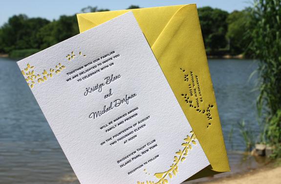 Kristyn and Michael: wedding invitation