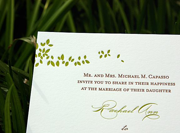 Rachael and Andrew: wedding invitation detail