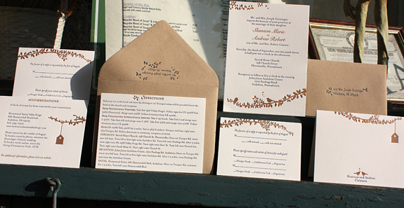 Shannon and Andrew:  wedding invitation suite