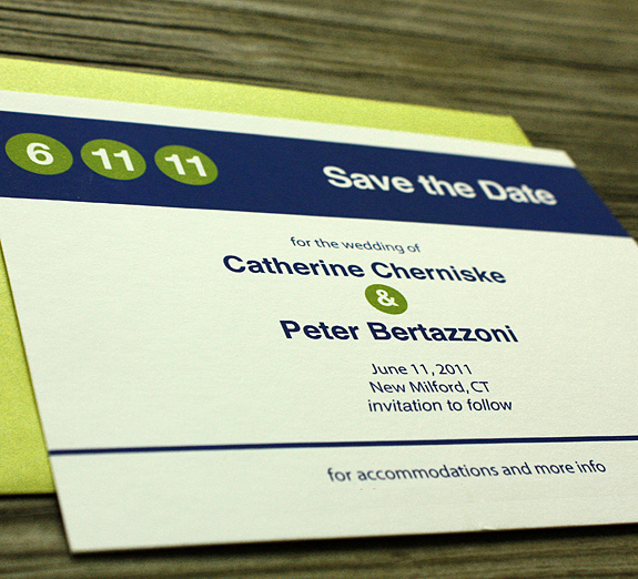 Catherine and Peter: Columbus Circle, save the date
