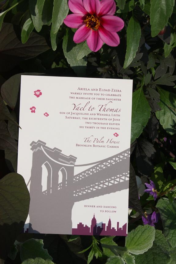 Yael and Thomas: wedding invitation
