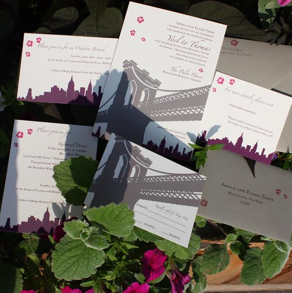 Yael and Thomas: wedding invitation suite