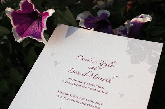 Candice and Daniel: wedding invitation