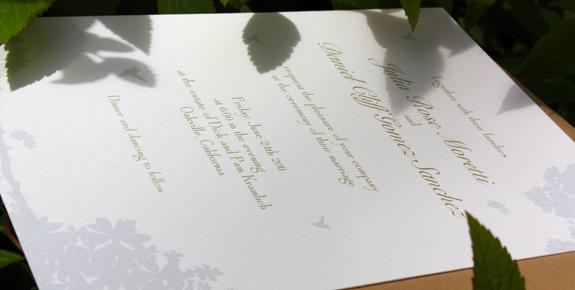 Julia and Daniel:  wedding invitation