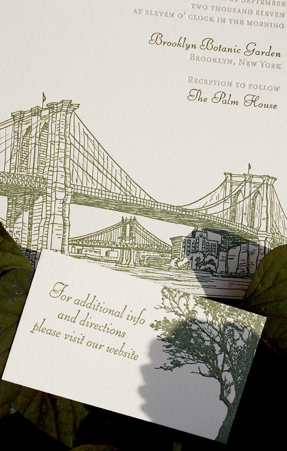 Fiona and John:  invitation and web card