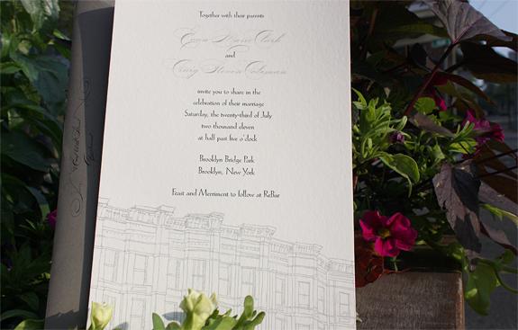 Evan and Craig: wedding invitation