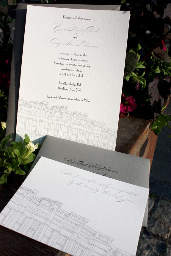 Evan and Craig: wedding invitation suite