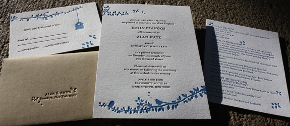 Emily and Alan: wedding invitation suite