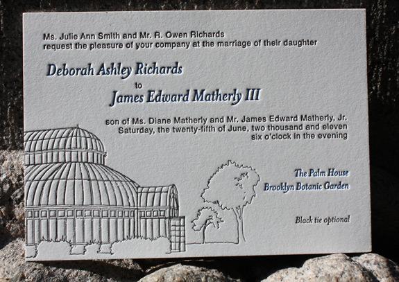 Deborah and James: wedding invitation