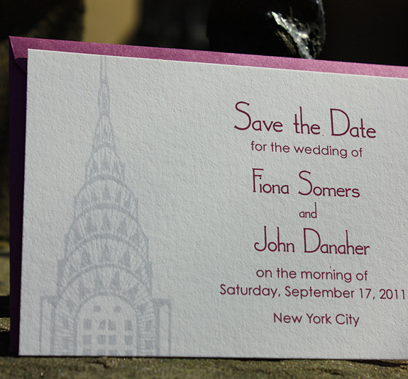 Fiona and John: save the date