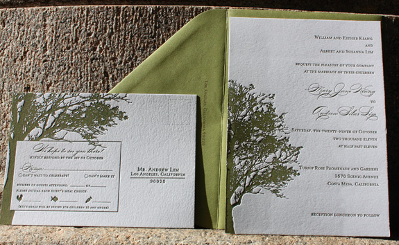 Mary and Andrew: wedding invitation suite