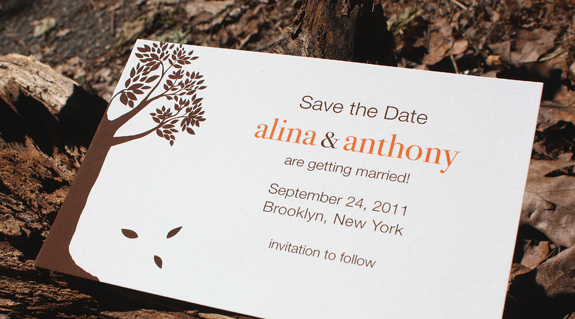 Alina and Anthony: save the date