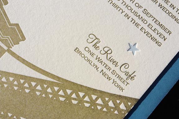 Amy and Ryan: wedding invitation detail