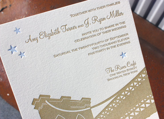 Amy and Ryan: wedding invitation