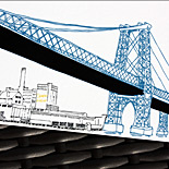 Molly and Aaden: Postscript Brooklyn, Williamsburg Bridge digitally printed