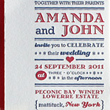 Amanda and John: Custom show print inspired two color letterpress