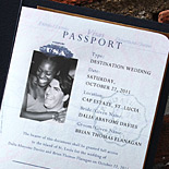 Dalia and Brian: personalized passport invite