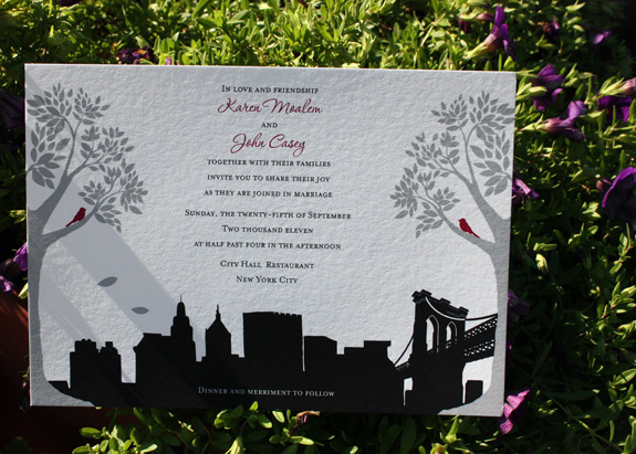 Karen and John: Montague St. - Apt. B, printed digitally in black, pewter and cranberry