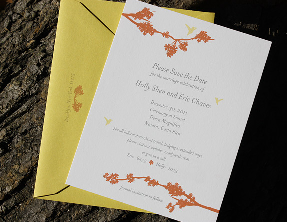 Holly and Eric: Prospect Park, digitally printed in custom colors with curry envelope