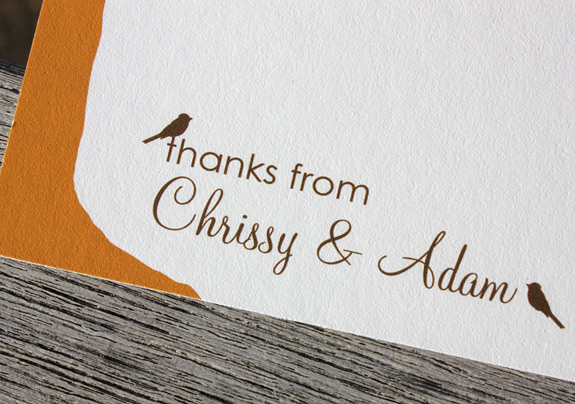 Chrissy and Adam: Montague St. - Apt. B, digitally printed in pumpkin and espresso