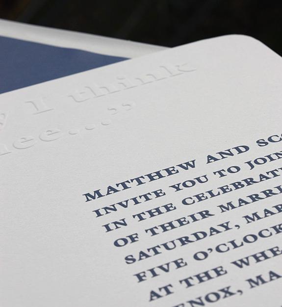 Matthew and Scott: wedding invitation detail