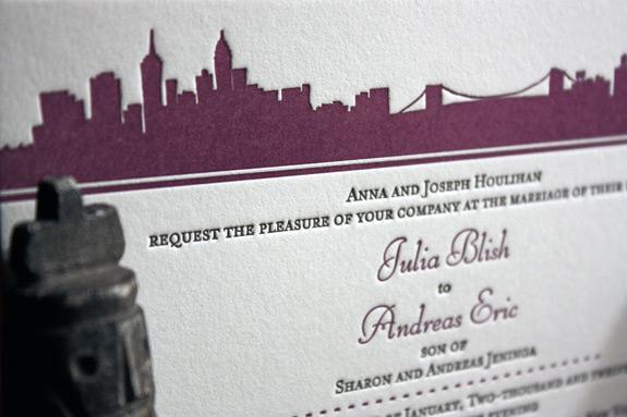 Julia and Andreas: Riverside Drive,  invitation detail
