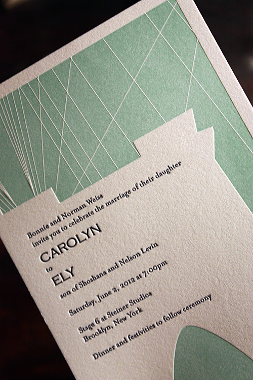 Carolyn and Ely: invitation detail