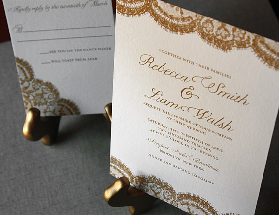 Sutton Place: wedding invitation and reply card