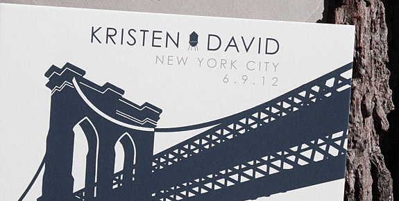 Kristen and David: Pineapple Street, save the date digitally printed in navy and pewter