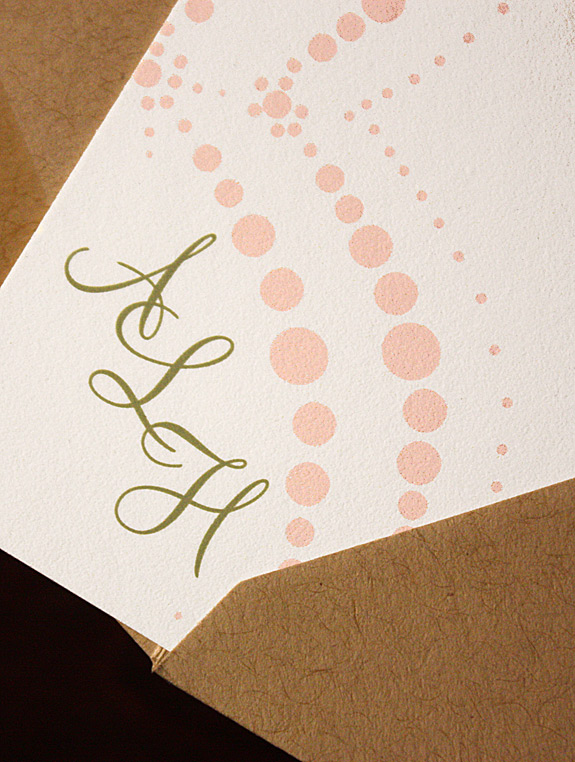ALH: Boerum Hill, thank you card digitally printed in rose and willow