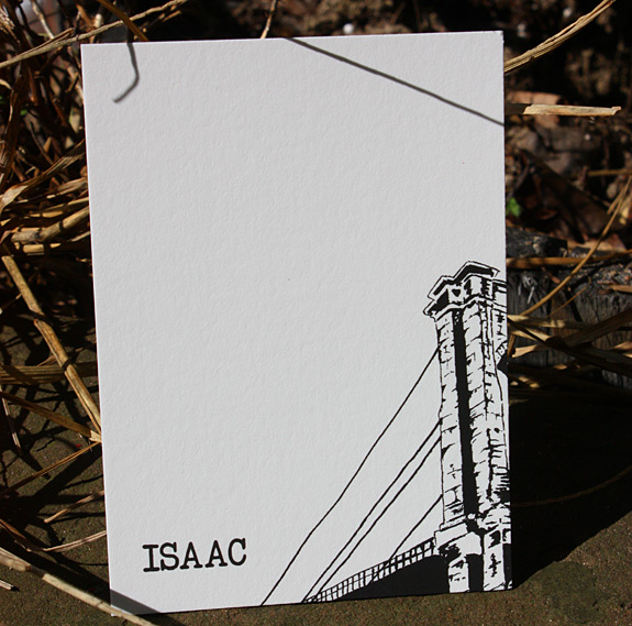 Isaac: Front Street, thank you card