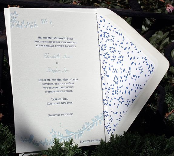 Elizabeth and Stephen: Gramercy Park, invite and custom liner