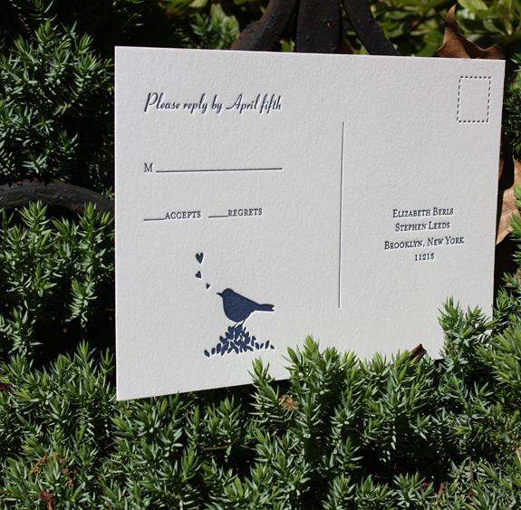 Elizabeth and Stephen: Gramercy Park, reply postcard