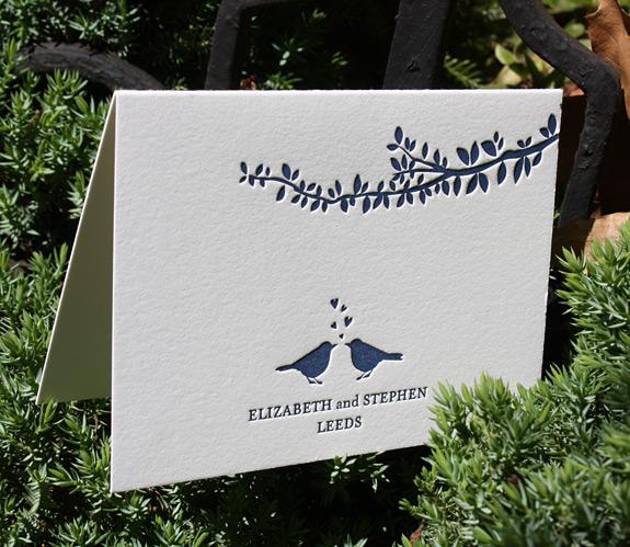 Elizabeth and Stephen: Gramercy Park, thank you notecard