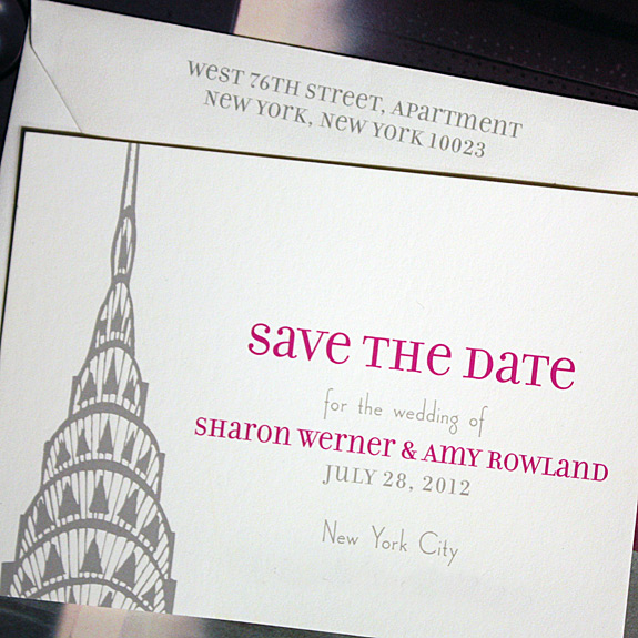 Sharon and Amy: Lexington Avenue, save the date