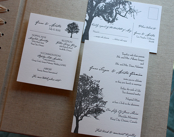 Anna and Martin: Lookout Hill, letterpress printed in black ink on bright white paper