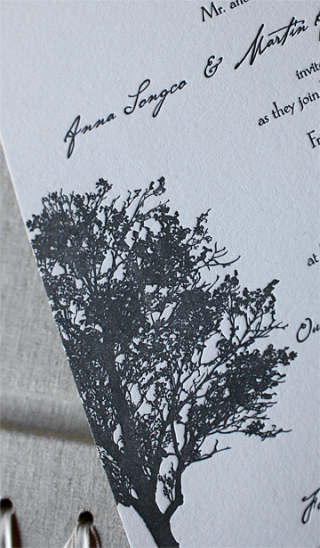 Anna and Martin: Lookout Hill, invitation detail