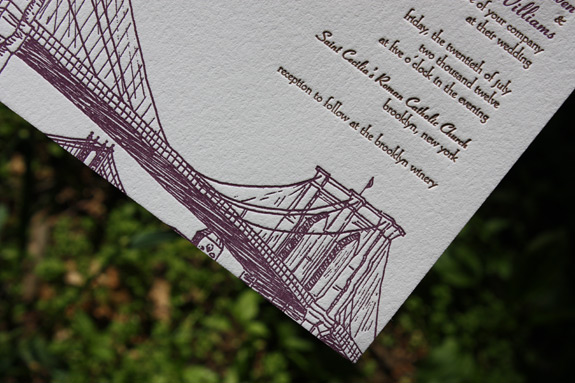 Sarah and Remore: Seaport, invitation detail