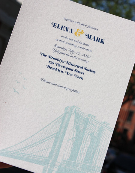 Elena and Mark: Vinegar Hill, invitation