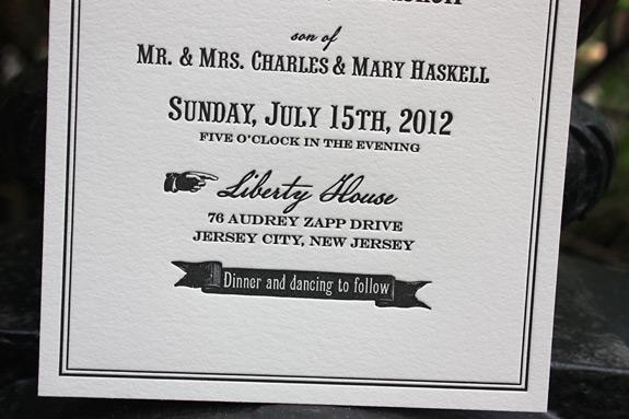 Lauren and Richard: invitation detail