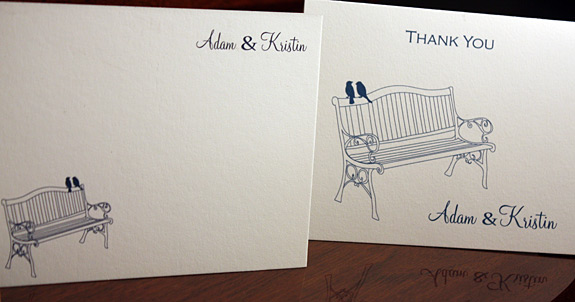 Kristin and Adam: York Street, thank you cards digitally printed